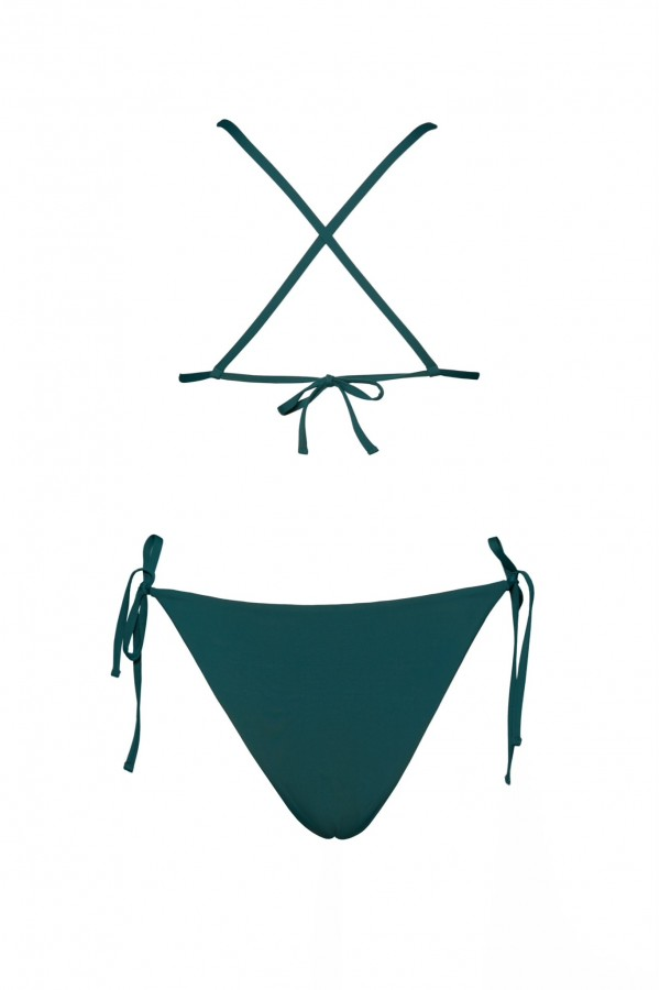 Costum De Baie Rhea Verde Petrol In Doua Piese