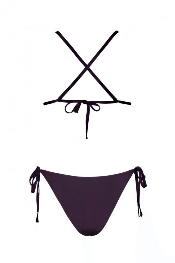 Rhea Plum Purple Side-Ties Bikini
