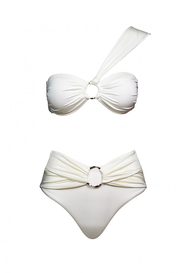 Hera White Porcelaine Bandeau Top