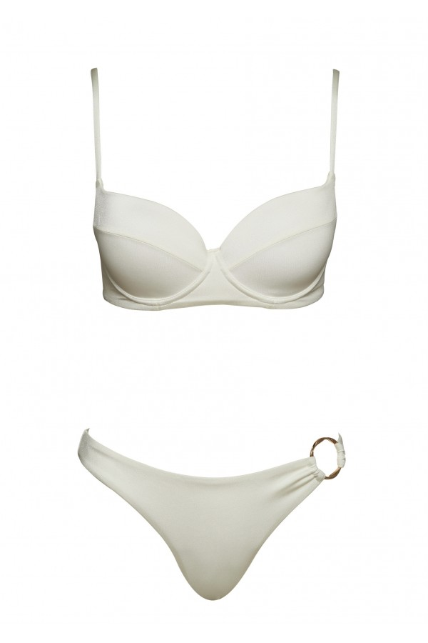 Luna White Porcelaine Bikini Bottom