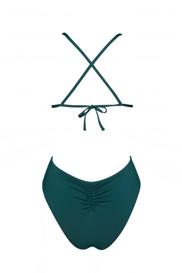 Costum De Baie Kara Verde Petrol Intr-o Singura Piesa