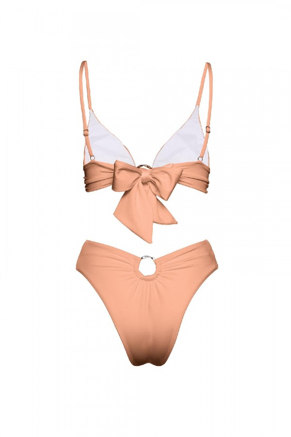 Chloe Camel Sculpt Bikini Bottom