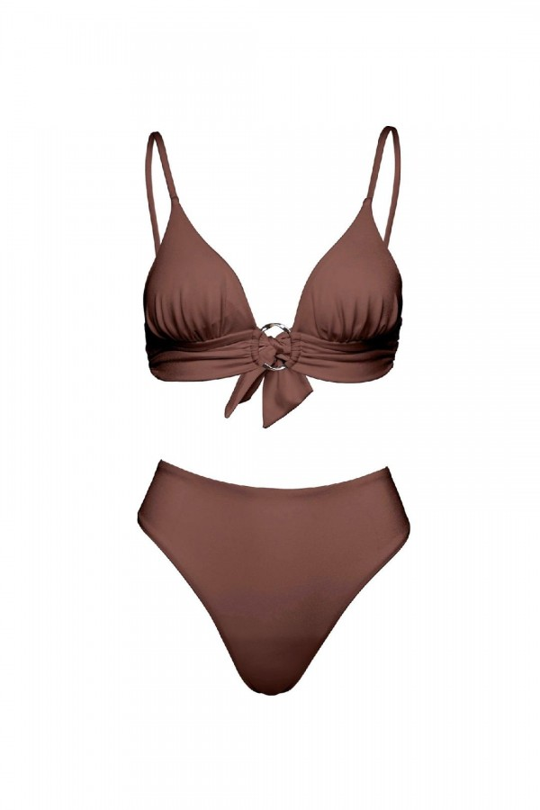 Chloe African Triangle Bikini Top
