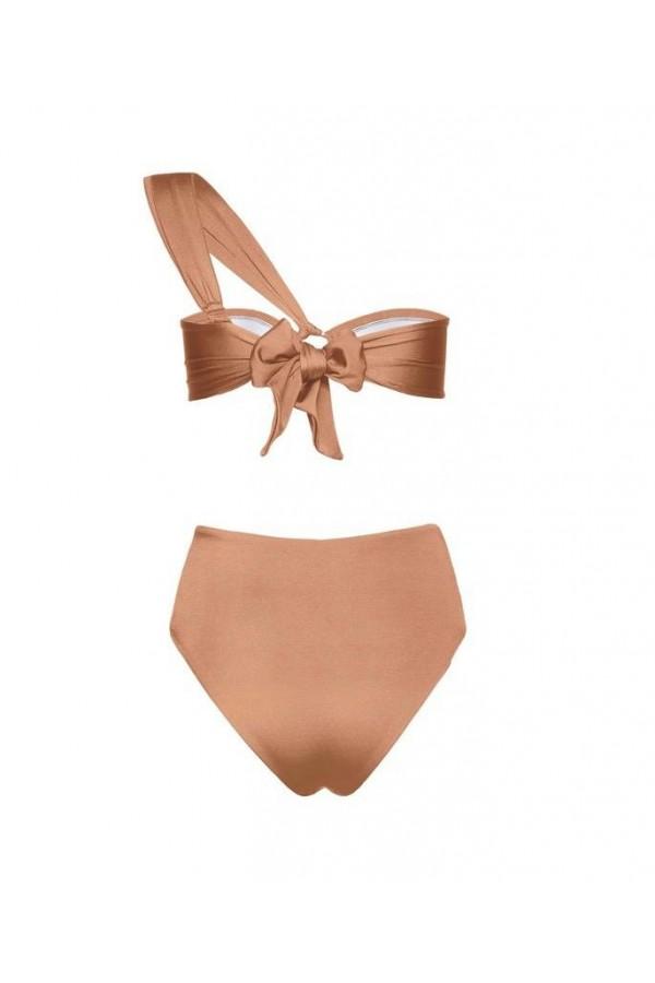Hera Camel Bandeau Bikini Top